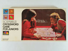 Vintage Scrabble Crossword Board Game for Juniors - 1975 Selchow & Righter