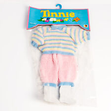 Vintage Ex shop stock Palitoy Meccano Tiny Tears doll Tinnie outfit knitted suit