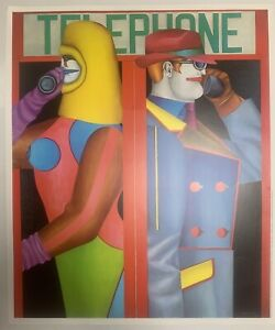 Richard Lindner - Telephone - Poster From ICA Exhibition