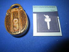 C. 1890 BRASS PADLOCK FIGURAL MATCH HOLDER VESTA CASE MATCH SAFE STRIKER