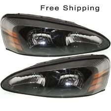 Halogen Head Lamp Assembly Set of 2 Pair LH & RH Side Fits Pontiac Grand Prix
