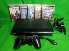 Sony Playstation 3 (PS3) Super Slim 500GB CECH-4001c bundle with 5 games