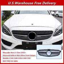 Diamond Grille Grill AMG Design For Mercedes Benz W205 C180 C200 C250 C300 15-18