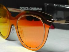 a6eb5f60f96 DOLCE   GABBANA DG2172 Rose Gold Red Frame Red Mirrored Cat Eye Lens  Sunglasses