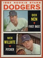 1964 Topps #14 Dodgers Rookies Near Mint / Mint Dick Nen Nick Willhite RC ROOKIE