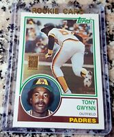 TONY GWYNN 1983 Topps Glossy Rookie Card RC GOLD 50 Years Padres HOF $ Reprint $