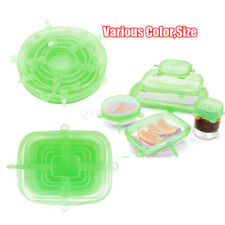 12 pieces Silicone Elastic Lids Cup Bowl Covers SAFETY Non-toxic Fresh-Care