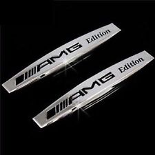2 X MERCEDES AMG EDITION Side Wing Fender Badge Emblem C E A S SL SLK CLASS