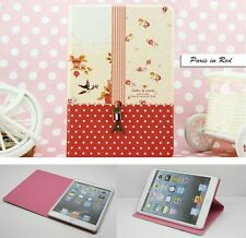 Elegant iPad Mini Smart Cover Case Paris Style Eiffel Tower & Strawberry design
