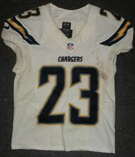 2013 Ronnie Brown San Diego Chargers Game Used Worn Nike Football Jersey! Nfl