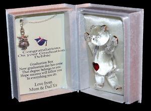 Personalised Graduation gift for her, Poem box & Owl necklace keepsake #1