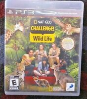 Nat Geo Challenge! Wild Life Rare Ps3 Sony Playstation 3 Complete National Geo