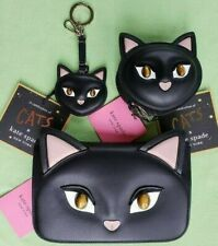KATE SPADE X CATS COIN CASE,KEY FOB,MAKE IT MINE POUCH FLAP CLUTCH :NWT CAT
