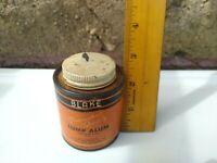 Vintage BLAKE LUMP ALUM  4 Ounce Tin  Blake Pharmacal Co. Allegan, Michigan