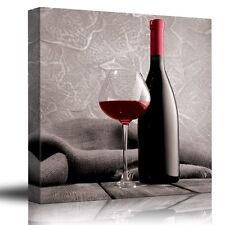 Romance Series - Black white and red color pop - Canvas Art Home Decor - 36x36