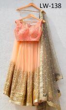 Georgette Silk Net Designer Lengha Choli Indian Wedding Lehenga Wear Ghoom Skirt