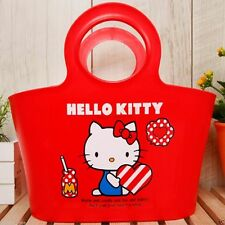 Sanrio Hello Kitty Gift Set Basket Shopping bag Plastic Red Basket Licensed