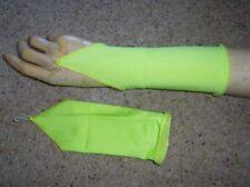 Niñas Niño Verde Luminoso Lycra Glovelettes Guantes De Baile Fancy Dress Costume