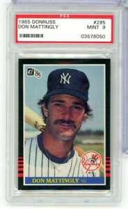 1985 DONRUSS DON MATTINGLY #295 PSA MINT 9 NEW YORK YANKEES RB5379