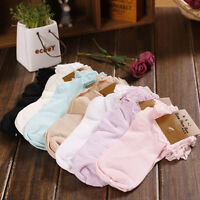 Princess Girl Cute Sweet Women Ladies Vintage Lace Ruffle Frilly Ankle Socks QQ