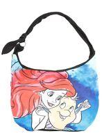 Disney The Little Mermaid Ariel & Flounder Watercolor Hobo Bag Purse