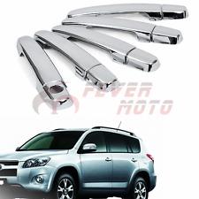For 2006-2012 Toyota RAV4 Triple Chrome ABS Side Door Handle Cover Trim FM