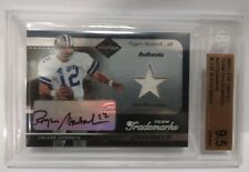 ROGER STAUBACH 2003 LEAF LIMITED JERSEY AUTO #29/50 COWBOYS