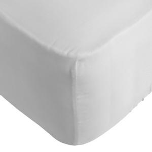 Soak & Sleep 300TC Soft & Cool Easycare Single Fitted Sheet, 30cm deep - White