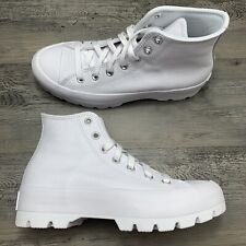 Women's Converse Chuck Taylor All Star Lugged Leather High White Size 7.5