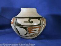 """Hopi pottery by Helen Naha, Featherwoman c. 1970  5 x 5 1/2"""""""