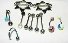 Assorted Lot of Stainless Steel Ball Barbell Tongue Piercing Body Jewelry