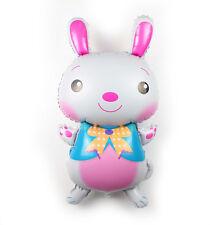 80cm Easter White Rabbit Foil Balloons Decoration Kids Girls Party Favor Gift