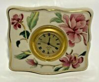 Vintage Lenox Barrington Collection Dresser Clock with Gold Trim USA