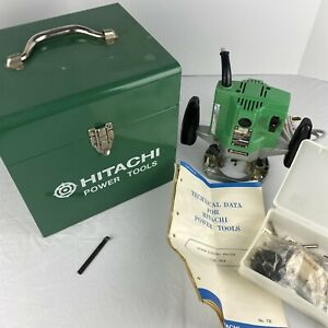 Hitachi Power Tools Electric Router Type TR-8 W/ Metal Case Tech Data Bits Works
