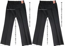 New Girls Marks & Spencer Black School Trousers x 2 Age 11 Years