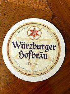 Vintage Beer Bar Coaster: Wurzburger Bavarian Beer formerly brewed at Wurzbuger