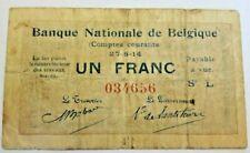 1 Franc 1914 Banque Nationale Comptes Courants #F6#