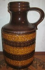 "1960s West German Pottery 39cm 15"" LARGE FLOOR JUG VASE 489-39 Germany Retro"