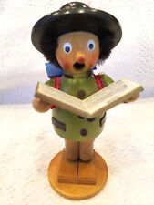 "Steinbach Volkskunst Smoker Music Box Singer ""So Ein Tag"" Germany Fully Working"