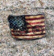 Motorcycle Flag Wallet Buckle