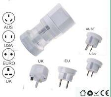 New All In Usa Uk Us Eu Au Travel Power Voltage Adapter Converter Plug 110v-250V