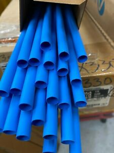 "HEAT SHRINK 2:1  3/8"" BLUE TUBING LOT OF 15 PCS X 4FT EACH - ALPHA WIRE FIT 221"