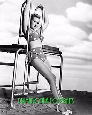 VIRGINIA MAYO 8X10 Lab Photo 1940s Sexy Polka Dot Swimsuit Bikini Portrait