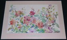 VITA CHURCHILL SPRING BOUQUET 1988 POSTER PRINT FLOWERS FLORAL