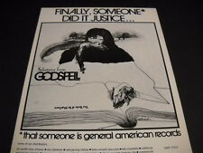 GODSPELL Finally Someone Did It Justice original 1972 PROMO POSTER AD mint cond