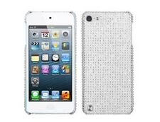 Hard Plastic Diamond Cover MP3 Protector Case Silver for Apple iPod Touch 5 5G