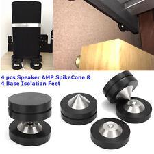 4 pcs Speaker AMP Spike Cone & 4 Base Isolation Feet Improve Audio Sound Quality