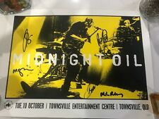 ULTRA RARE...MIDNIGHT OIL...SIGNED POSTER...TOWNSVILLE...QLD...10/10/17...45/100