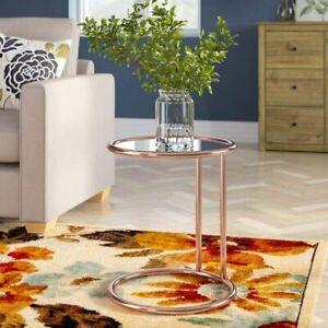 ASPECT Mia Round Side Coffee End Sofa Table Copper / Mirror 45x45x52 cm