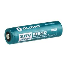 Olight 18650 3.6V 3600mAh Rechargeable Li-ion Protected Battery ORB-186P36 x 2